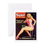 Titter Hot Beauty Queen Girl Greeting Card