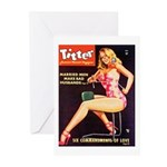 Titter Hot Beauty Queen Girl Greeting Cards (Pk of