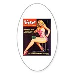 Titter Hot Beauty Queen Girl Sticker (Oval)