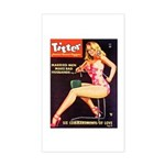 Titter Hot Beauty Queen Girl Sticker (Rectangle)