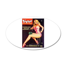 Titter Hot Beauty Queen Girl 22x14 Oval Wall Peel