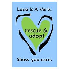 Love Is A Verb Blue & Green