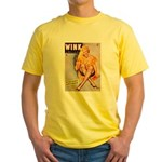 Wink Cross-Legged Blonde Girl Yellow T-Shirt