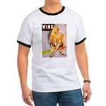 Wink Cross-Legged Blonde Girl Ringer T