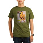 Wink Cross-Legged Blonde Girl Organic Men's T-Shir
