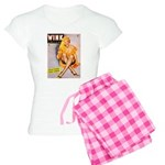 Wink Cross-Legged Blonde Girl Women's Light Pajama