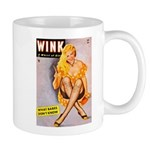 Wink Cross-Legged Blonde Girl Mug