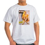 Wink Cross-Legged Blonde Girl Light T-Shirt