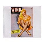 Wink Cross-Legged Blonde Girl Throw Blanket