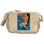 Eyeful Blonde Beauty Girl Cover Messenger Bag