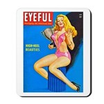 Eyeful Blonde Beauty Girl Cover Mousepad