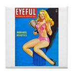 Eyeful Blonde Beauty Girl Cover Tile Coaster