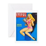 Eyeful Blonde Beauty Girl Cover Greeting Card