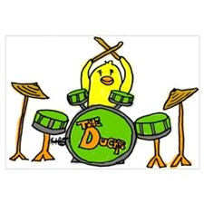 Duck Playing Drums