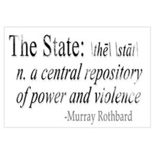 Definition of The State by Rothbard Small Framed P