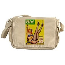 Flirt Smiling Redhead Girl Messenger Bag