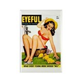 Eyeful Bathing Farm Beauty Girl Rectangle Magnet