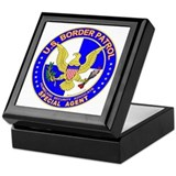 SecTheBdr US Border Patrol Sp Keepsake Box