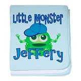 Little Monster Jeffery baby blanket