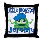 Little Monster Jeremy Throw Pillow