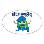 Little Monster Jim Sticker (Oval)