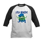 Little Monster Jim Kids Baseball Jersey