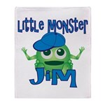 Little Monster Jim Throw Blanket