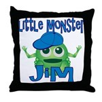 Little Monster Jim Throw Pillow