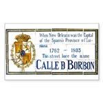 Bourbon St Tile Mural Sticker (Rectangle)