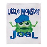 Little Monster Joel Throw Blanket