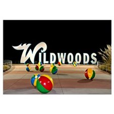 Wildwoods Sign in Wildwood, New Jersey