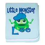 Little Monster Lee baby blanket