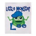 Little Monster Lee Throw Blanket