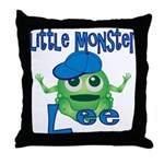 Little Monster Lee Throw Pillow