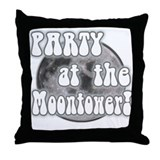 Party At The Moontower Throw Pillow