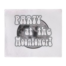 Party At The Moontower Throw Blanket