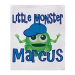 Little Monster Marcus Throw Blanket