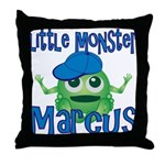 Little Monster Marcus Throw Pillow