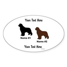 1 Black & 1 Brown Newf Decal