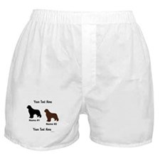 1 Black & 1 Brown Newf Boxer Shorts