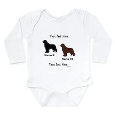 1 Black & 1 Brown Newf Baby Suit