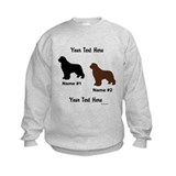 1 Black & 1 Brown Newf Sweatshirt