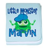 Little Monster Marvin baby blanket