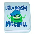 Little Monster Mitchell baby blanket
