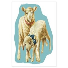 Easter Spring Lambs Blue