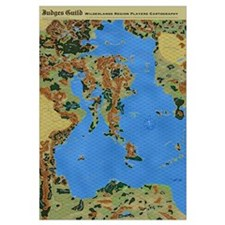 "Wilderlands GIANT 23x35"" Map with 5/8"" HEX GRID!"