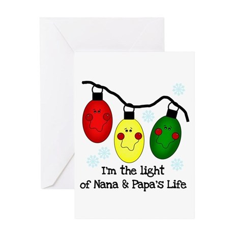 Light of Nana and Papa's Life Greeting Card