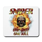 Sniper Skull One Shot One Kil Mousepad