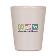 Peace, Love, Wolfhounds Shot Glass