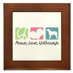 Peace, Love, Wolfhounds Framed Tile